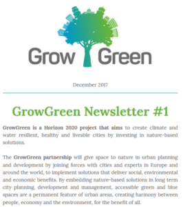 GrowGreen newsletter December 2017