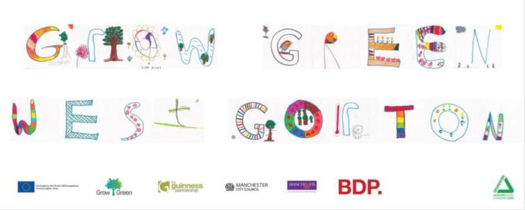 Logo for GrowGreen West Gorton, designed by local children