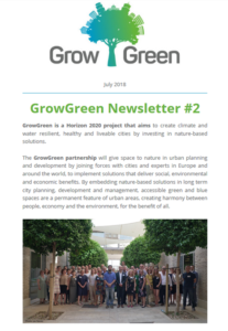 GrowGreen newsletter July 2018