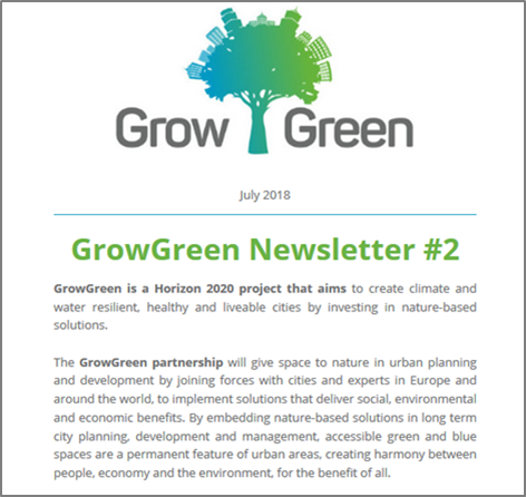 Logo and first paragraph of newsletter