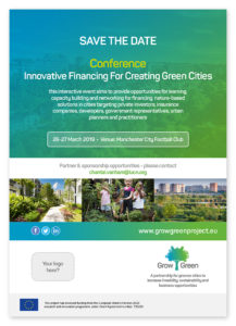 GrowGreen conference: Innovative financing for creating green cities, 26-27 March 2019, Manchester