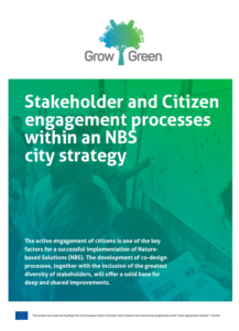 Stakeholder and citizen engagement processes within an NBS city strategy