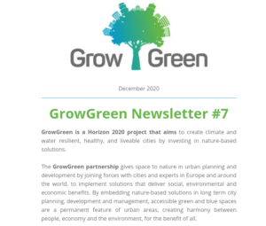 GrowGreen Newsletter December 2020