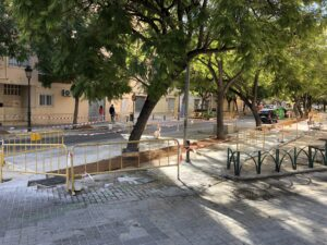 Work begins on the blue-green pedestrian corridor in Benicalap, Valencia